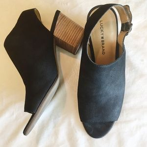 Lucky Brand Black Leather Slingback   254